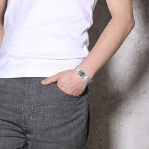 Vnox мужской браслет в стиле панк, здоровая биоэнергия, тон, нержавеющая сталь, цепь, звено, магнитные браслеты, браслеты для мужчин, ювелирные изделия