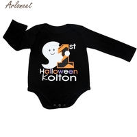 New Year Fashion Christmas pajamasNewborn Infant Baby Long Sleeve Halloween Print Romper Jumpsuit Clothes Dropshipping #