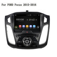 HD 1024*600 9 Inch ROM 16GB Quad Core Android 5.1.1 Stereo Radio Mirror link Car DVD Player GPS Navi For Ford Focus 2015-2016