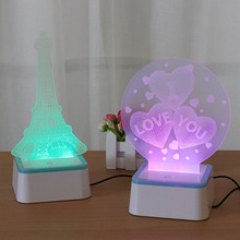 3D table lamp toys creative confession gift colorful color touch night light