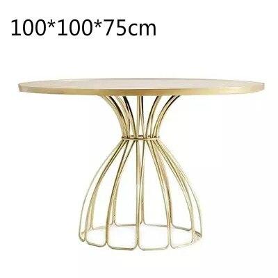 Луи Мода кафе столы скандинавские мраморные железные Золотые круглые журнальные переговоров - Цвет: G4