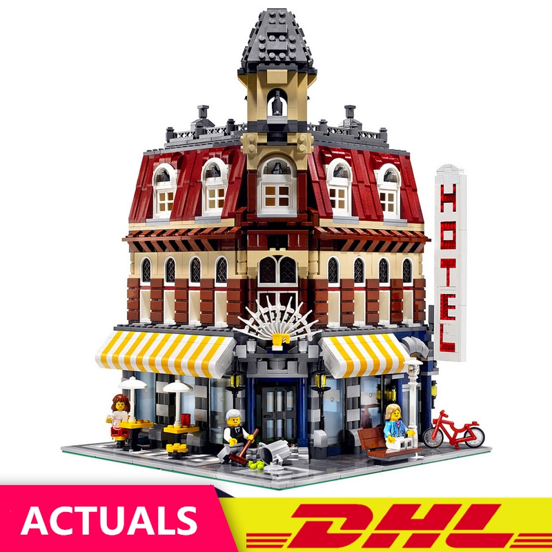 2133Pcs 15002 Cafe Corner Model Building Kits Blocks Kid DIY Education Brick Toy Gift LELE Compatible With 10182 2133pcs lepin 15002 building blocks bricks kits kid cafe corner diy educational toy children holiday gift 10182