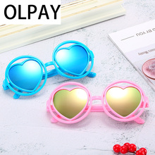 2019 Fashion Brand Designer Child Sun Glasses Anti-uv Baby Sun-shading Girl Boy Sunglass Kids Heart Sunglasses Boys Girls