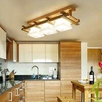 Madeira maciça lâmpada do teto varanda Americano Escandinavo novo chinês corredor luz corredor Luzes de Teto de LED