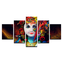 Buddha Canvas Painting Framed zen painting Wall Picture For Living Room 5Pcs Indian Series art/11Y-ZT-2