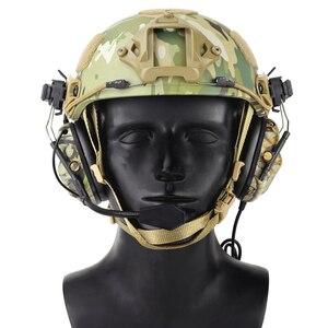 Image 3 - 빠른 헬멧을위한 전술 헤드셋 arc 헬멧 레일 어댑터가있는 군용 소음 감소 헤드셋 사냥 항공 comtac 헤드폰
