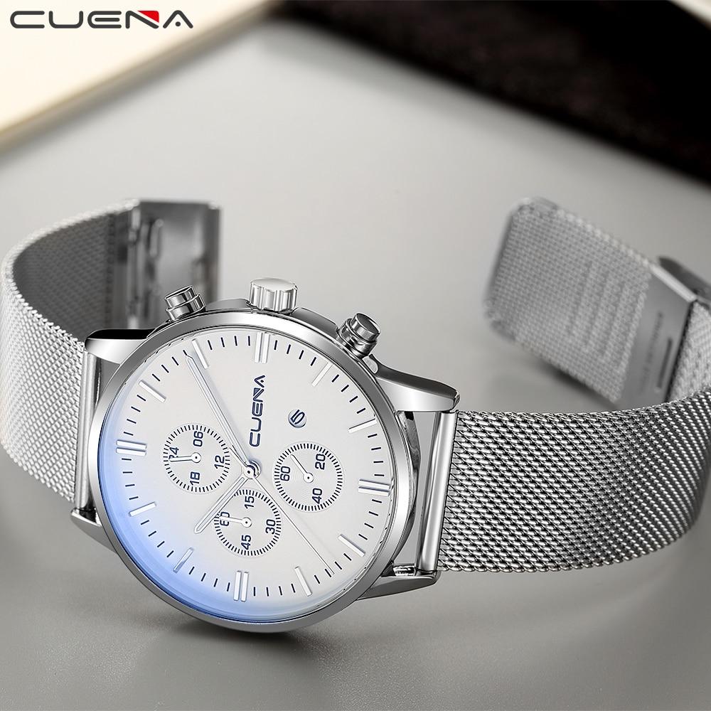 CUENA Men Quartz Ժամացույցներ Watրի դիմացկուն - Տղամարդկանց ժամացույցներ - Լուսանկար 5