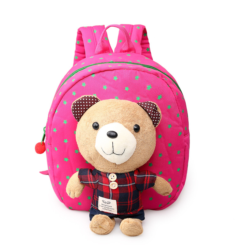 Baby Toddler Cartoon Safety Harness Anti-lost Bear Backpack Strap Walker Lunch Box Bag  on AliExpress