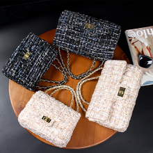 CGmana Women Handbag 2020 Lattice Wool Women Crossbody Bag Luxury Handbag Designer Brand Ladies Bag Retro Shoulder Messenger Bag