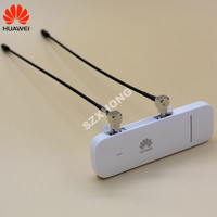 Free shipping HUAWEI logo E3372 4G LTE USB Dongle modem FDD 700/900/1800/2100/2600Mhz with CRC9 antenna