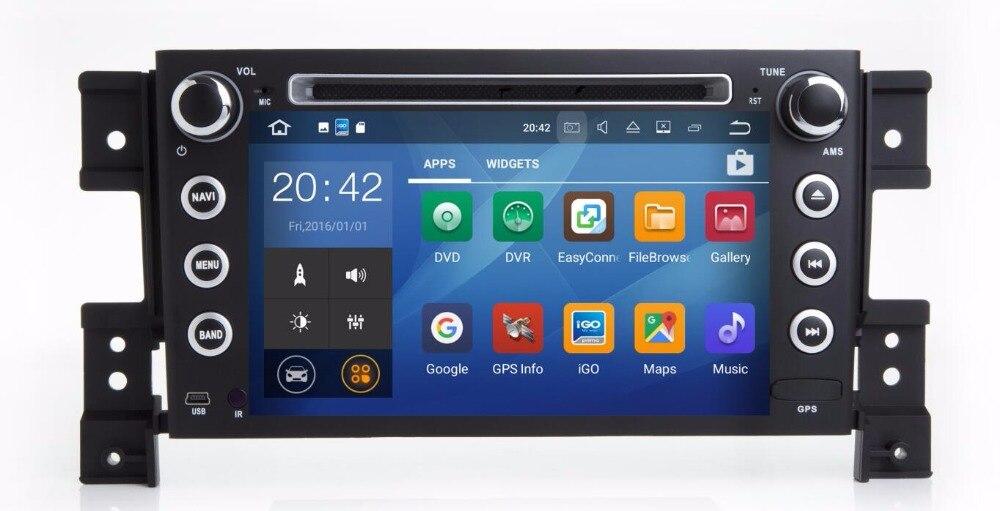 Новые 4 ядра android 7.1 Fit Suzuki Grand Vitara 2005-2012-2014 dvd-плеер автомобиля Мультимедиа Навигация DVD GPS радио Navi карта