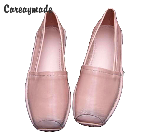 Careaymade head layer cowhide pure handmade personality folk style women s Lazy shoes shallow soft bottom