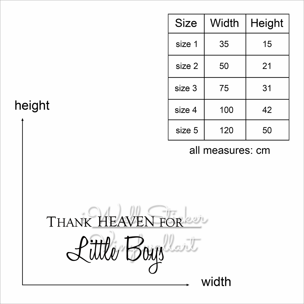 US $11.04 15% OFF|Thank Heaven For Little Boys Quote Wall Sticker Girls  Wall Quotes Children Room Easy Wall Art Decal DIY Removable Cut Vinyl  Q210-in ...