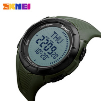 SKMEI Odkryty Sportowe Zegarki Mężczyźni Odliczanie Elektroniczny Zegarek Kompas Czas Światowy Summer Time Cyfrowy Zegarek Relogio Masculino