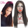 High Quality Human Hair Glueless Full lace Wigs with baby hair Virgin Brazilian hair Yaki straight Lace Front Wigs