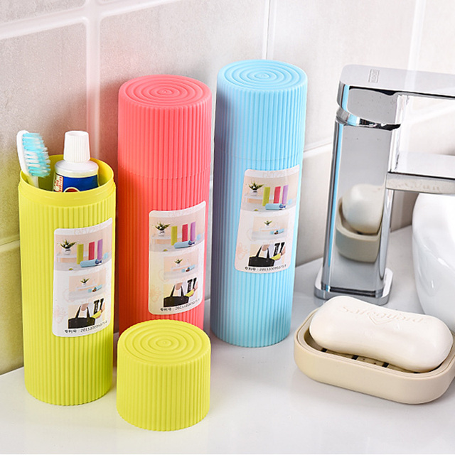 Hippo Home Bathroom Travel Toothbrush Toothpaste Box Holder Towel Toiletries  Storage Case Wash Cup Portable Tooth