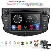 Hizpo Car Dvd Player For Toyota RAV4 Rav 4 2007 2008 2009 2010 2011 2 din 800*480 gps navigation subwoofer free rear view camera