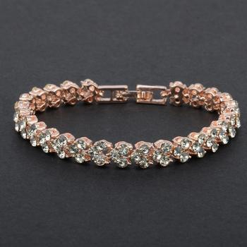 Women's Crystal Bracelet Bracelets Jewelry Women Jewelry Metal Color: A Ships From: China