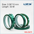10mm width Green PET Adhesive Tape High Temperature for PCB Solder Shielding