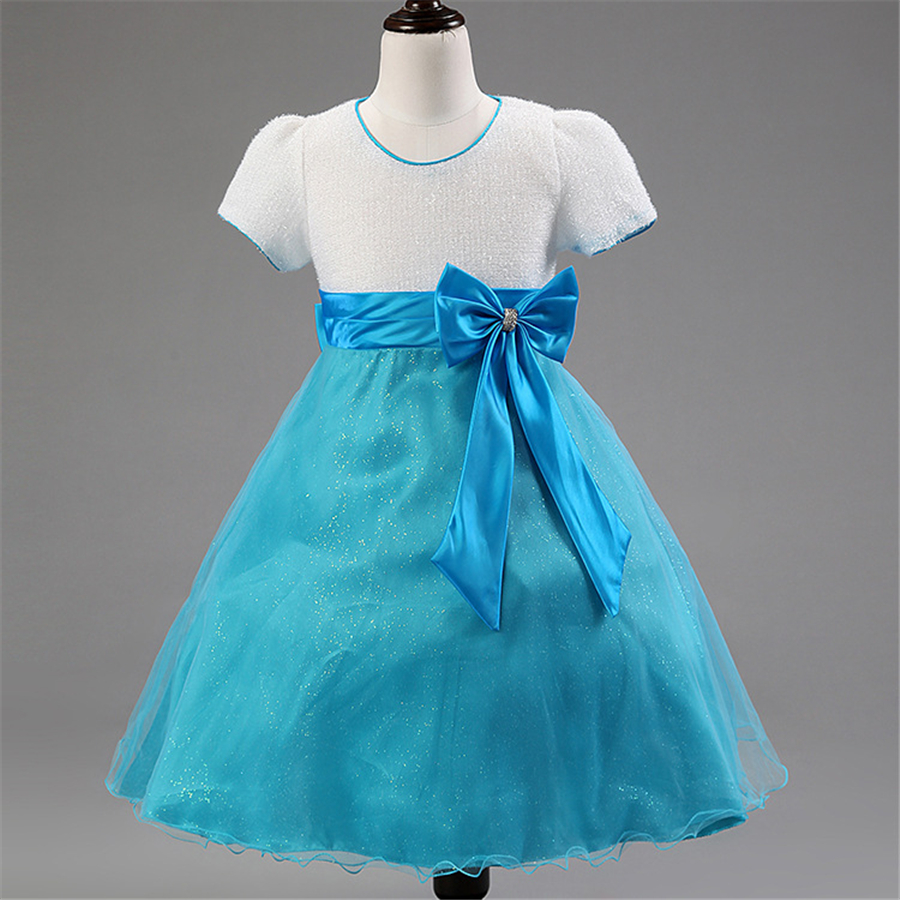 Compare prices on child bridesmaid dresses blue online shopping 3 12t kids girls party wear costume for children bridesmaid wedding dress blue formal gown ombrellifo Images
