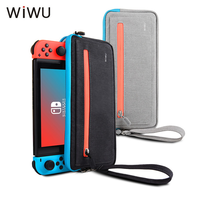 WIWU Case For Nintendo Switch Portable Travel Carrying Case Storage Pouch Bag For Nintendo Switch NS Console With 5 Game Holder
