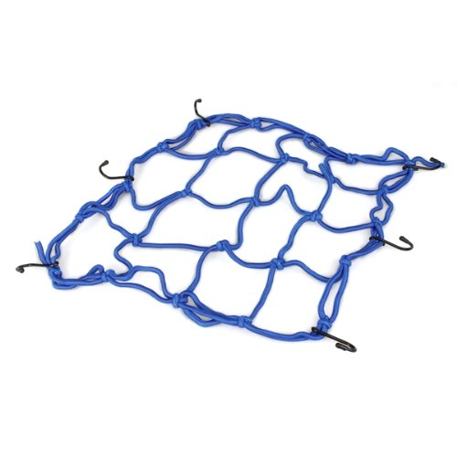 Motorcycle Luggage Net Mesh Safety Net Tension Power Transmission Grid Blue NEW