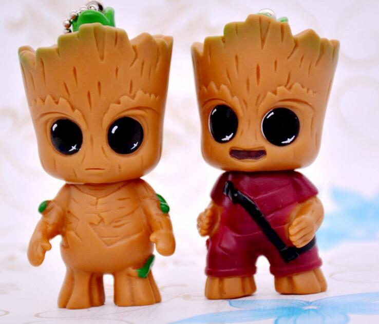 Toys & Hobbies Sweet-Tempered 8cm Anime Figure Guardians Of The Galaxy 2 Baby Action Figure Collectible Model Toys Dj Tree Man Toys Model Holiday Gift Rich In Poetic And Pictorial Splendor