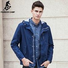 Pioneer Лагерь бренд куртки мужчины осень весна верхнего качества 100% хлопок мужской куртки мода повседневная красный синий мужской пальто 611627
