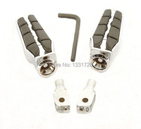 Chrome Wing Foot Pegs Rests For 1996 2006 Honda VLX 600/Deluxe (Rear)