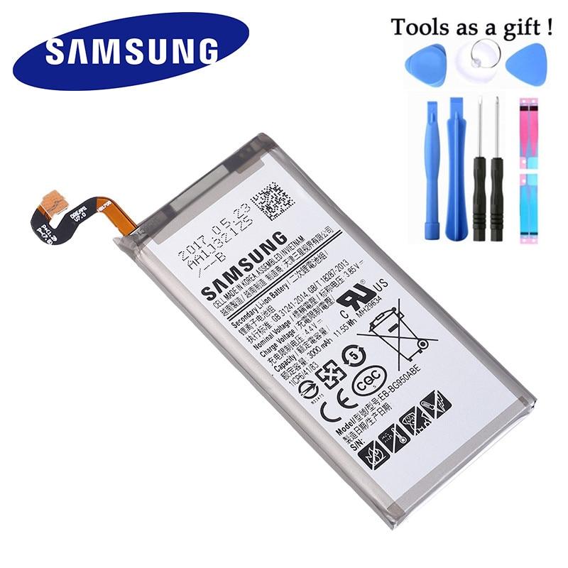 Bateria original EB-BG950ABE para samsung galaxy s8 SM-G9508 g9508 g9500 g950u g950f 3000mah akku + ferramentas