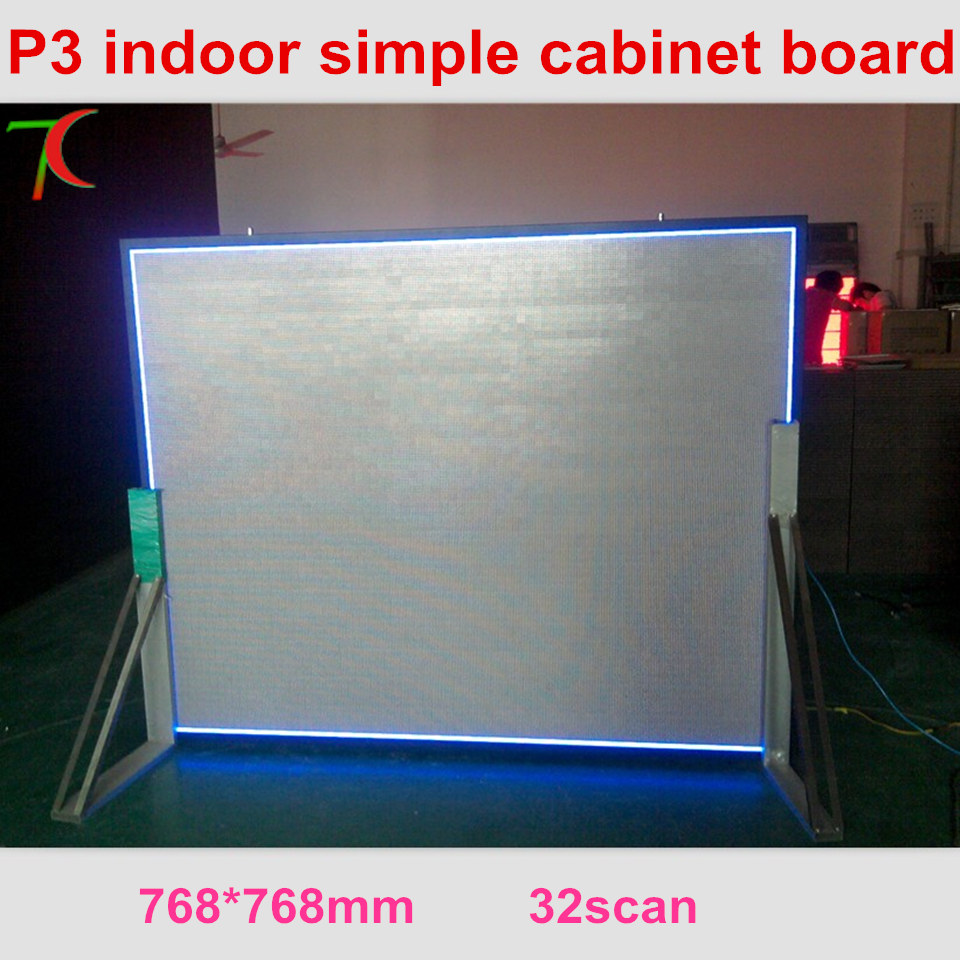 768*768mm P3 32scan simple cabinet screen video wall use in restaurant ,meeting room. ...