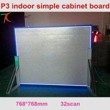 768*768mm P3 32scan simple cabinet screen video wall use in restaurant ,meeting room.
