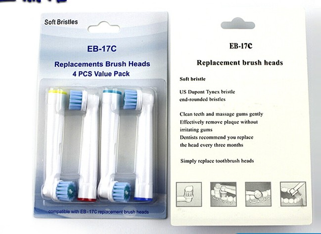8Pcs/2 Pack 1205 EB-17CBrush Heads Five Type For Oral-B Electric Toothbrush Fit Advance Power/Vitality Precision Clean EB-17C