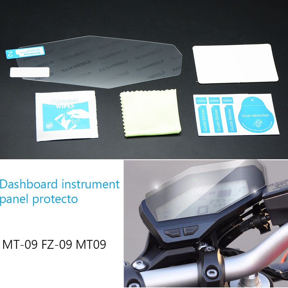 YOWLING Motorcycle Protector Decals Sticker Engine Tachometer Lens Instrument prot suitable for Yamaha FZ09 MT09 MT-09 MT 09 ...