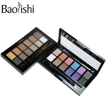 baolishi New 12 Color naked eyeshadow palette Matte Earth natural Eye Shadow Brand Makeup Cosmetic