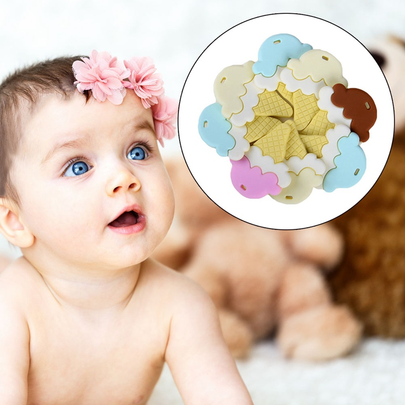 dfaf4cedf825a Ice Cream Silicone Teether 1 Pcs Baby Nursing Teething Necklace Accessories  Baby Bite Jewelry Toddler Teething Toys-in Baby Teethers from Mother & Kids  on ...