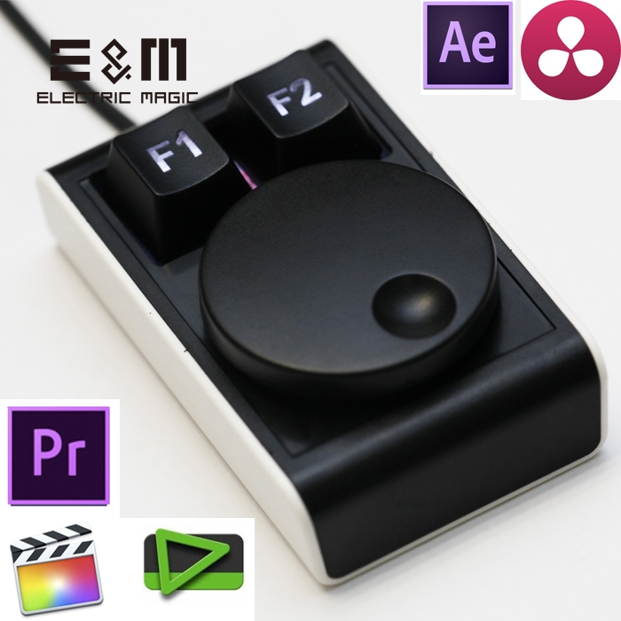 Programmable Dial Time Shuttle Shortcut LED USB Keyboard Macro Hot Key FCPX Canopus Edius DaVinci Adobe Premiere Ae Pr