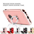 For iPhone 7 7Plus 6 6Plus 5 5s Case with Screen Protector 3 in 1 Design Full Body Cover for iPhone 7 Plus Case with Ring Holder