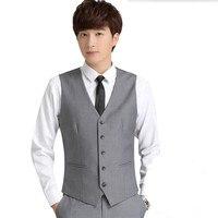 Custom made twee zakken mannen vest slim fit bruidegom tuxedos vest goede kwaliteit groomsman prom jurk past vest