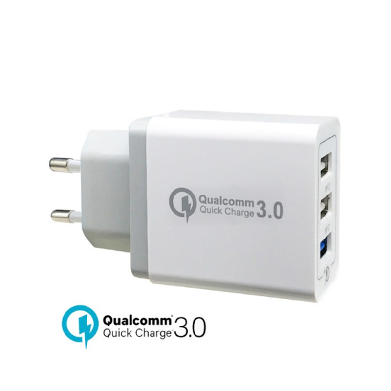 Quick Charger For Samsung Galaxy S9+ S8+ S9 Plus S8 S7 S6 Edge S5 Note 8 5 Fast Chargers Universal 30W QC 3.0 USB Power Adapter