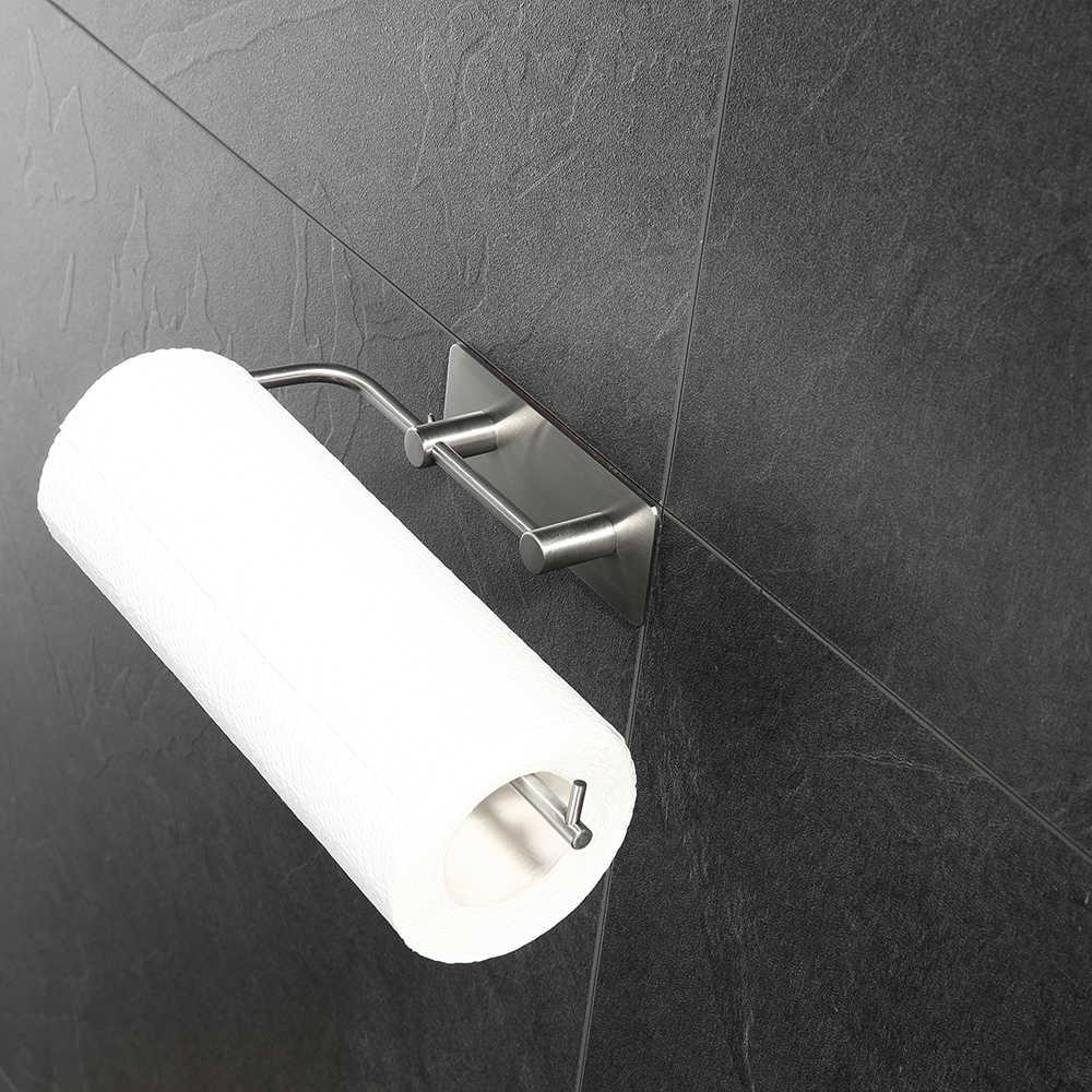 ステンレス鋼のキッチンタオルホルダー壁マウント浴室組織ラック自宅保管ツール