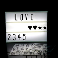 2018 Premuim A4 Size LED Combination Light Box Night Lamp DIY BLACK Letters Cards USB PORT