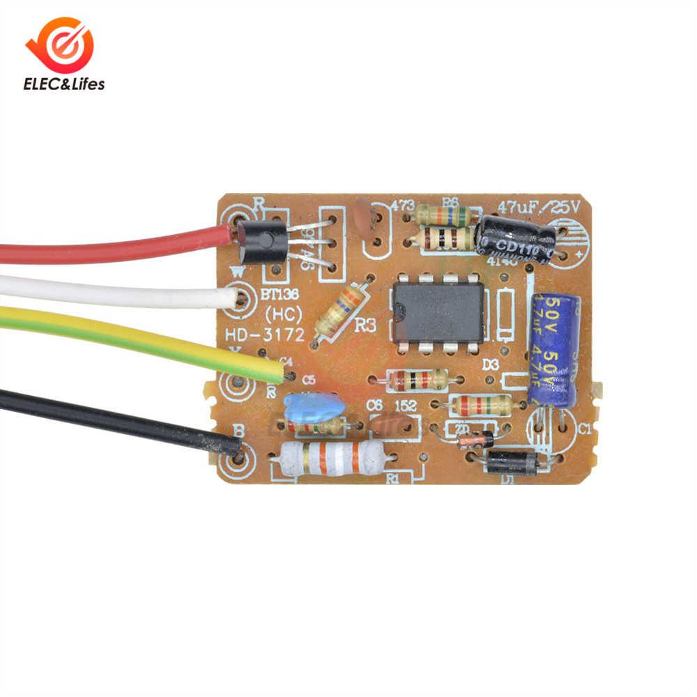 Interruptor de encendido/apagado con Sensor táctil, 1 vía, 110V CA, 220V, 3 vías, Sensor de Control táctil, atenuador, atenuación para lámpara de luz LED
