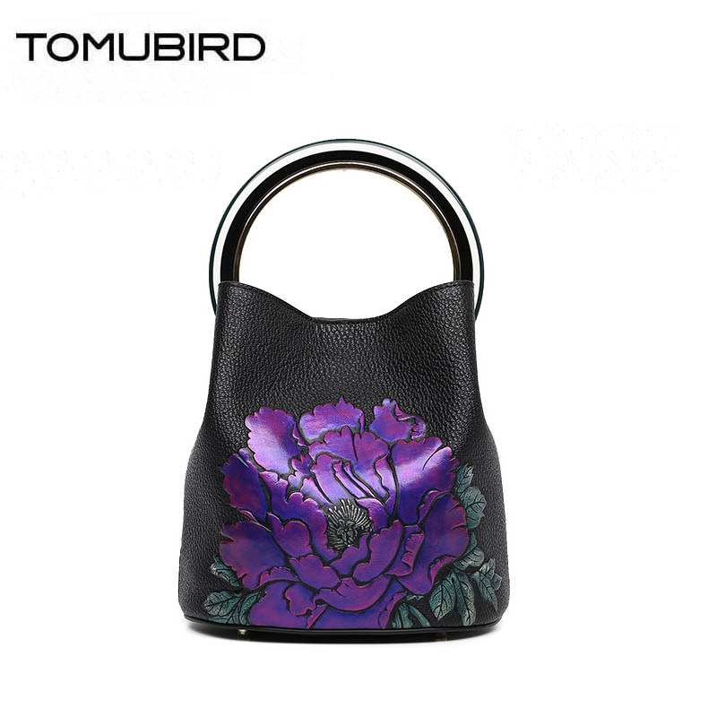 TOMUBIRD 2018 new Cowhide women genuine leather bag cowhide embossing schoudertas dames women genuine leather handbags 2016 new women genuine leather bag fashion chinese style top quality cowhide embossing women leather handbags shoulder bag