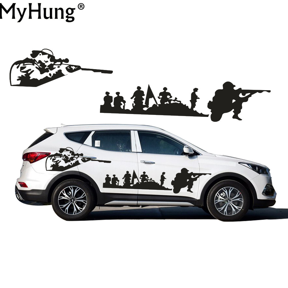 stickers for hyundai santafe car styling creative diy us army car whole body decals decoration. Black Bedroom Furniture Sets. Home Design Ideas