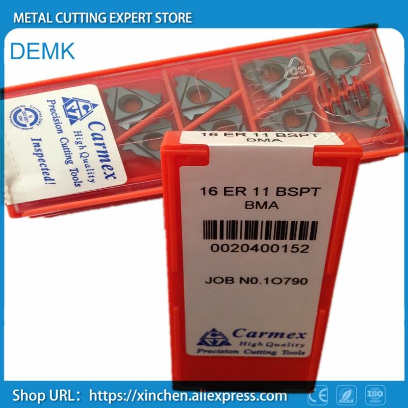 10pcs Carmex 16ER 14 BSPT BMA High quality Threaded blade Carbide Inserts