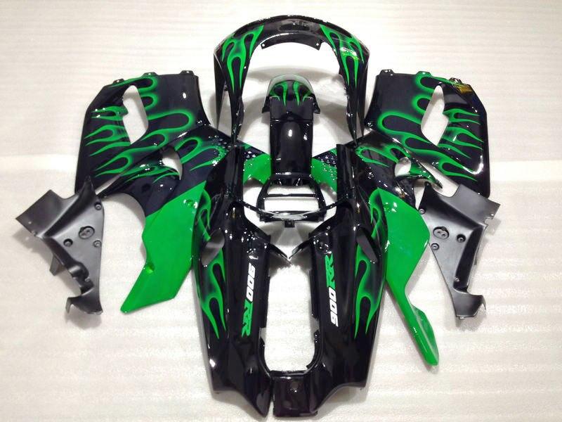 Green flame moto CBR 893 carenature kit Su Ordinazione di trasporto ABS fabbrica parti della carenatura per CBR 97 96 HD CBR900RR 893RR 1996 1997