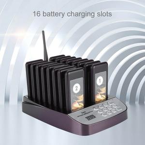 Image 4 - SU 66 1 トランスミッタ + 16 ポケベル無線ポケットベルシステムレストランキューイング通話システムトランスミッタ 100 240 のためのレストラン