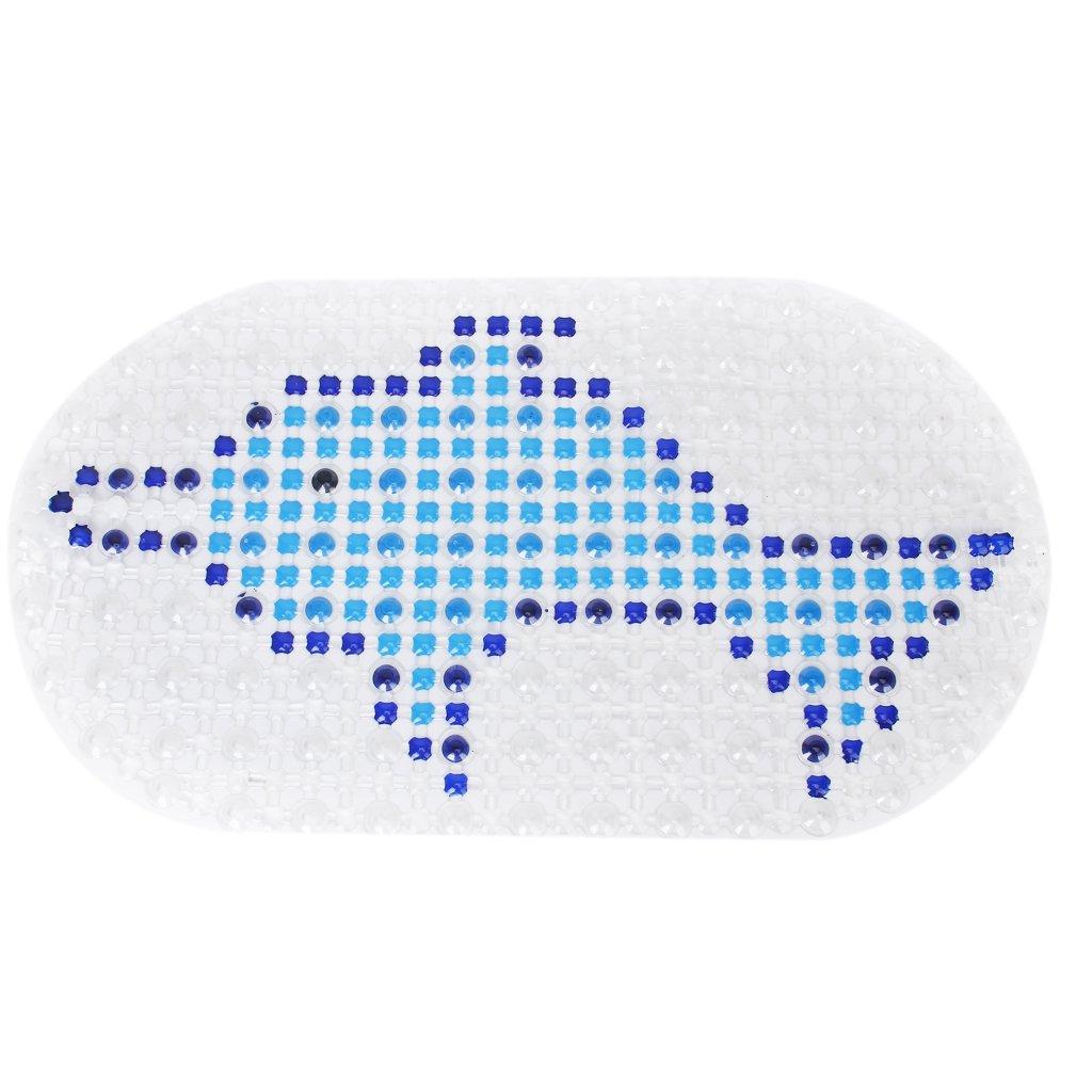 Golfinho-Padrão Banho PVC Floor Mat Anti-Slip Mat