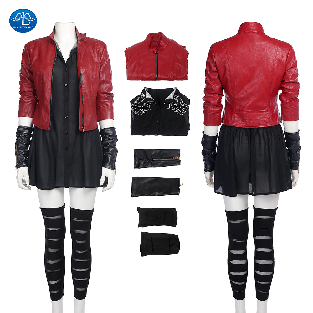 ManLuYunXiao Scarlet Witch Cosplay Avengers Age of Ultron 2 Scarlet Witch Costume For Adult Women Halloween Cosplay Costume